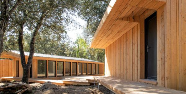 Chantier de maison en bois par Samuel Durozier, sur l'Île d'Oléron