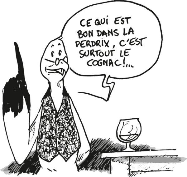 Mouette et la recette perdrix cognac