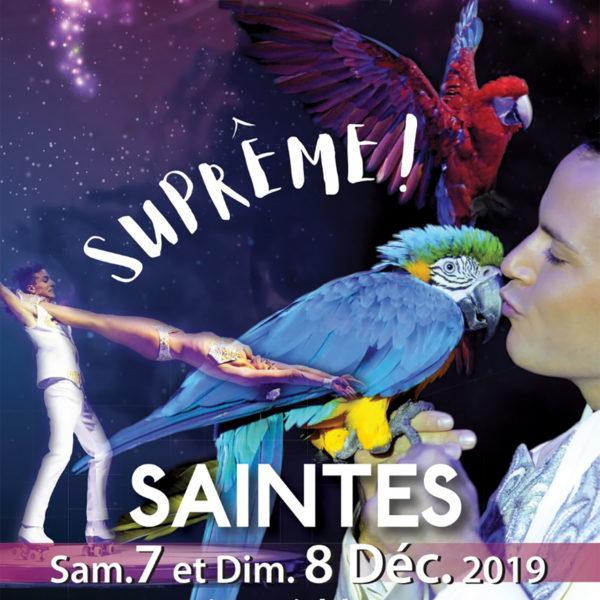 Affiche cirque de noël de Saintes